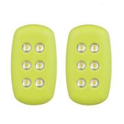 米粒 R100 夜跑灯 双只装 荧光绿 自发电 免电池 夜间跑步示警灯 信号灯 户外醒目灯 紧急求援信号灯