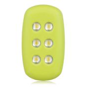 米粒 R100 夜跑灯 单只装 荧光绿 免电池 夜间跑步示警灯 信号灯 紧急求援灯 安全保障