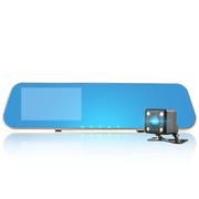安尼泰科  TJ3 双镜头行车记录仪 1080P高清 4.3英寸屏 防眩光后视镜 倒车影像