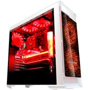 长城 魔镜M-12HW电竞游戏机箱加强版白色 (水冷/全侧透/独立电源仓/磁吸防尘)
