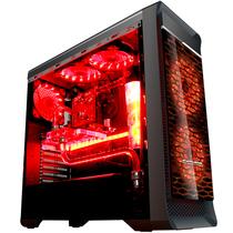 长城 魔镜M-12H电竞游戏机箱加强版黑色(水冷/全侧透/独立电源仓/磁吸防尘)产品图片主图