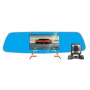 平安一号 F55D 声控导航电子狗行车记录仪固/流测速一体机高清夜视广角后视镜双镜头倒车影像
