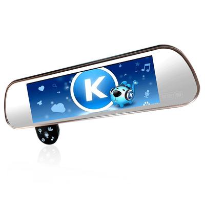 平安一号 Q806 智能云镜行车记录仪声控导航电子狗测速一体机前后双录倒车影像支持蓝牙FM产品图片3