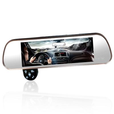 平安一号 Q806 智能云镜行车记录仪声控导航电子狗测速一体机前后双录倒车影像支持蓝牙FM产品图片4
