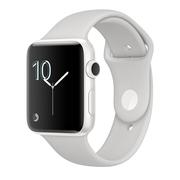 苹果 Apple Watch Series 2 白色精密陶瓷表壳清云色运动型表带 38毫米