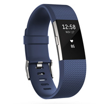 Fitbit Charge 2 智能时尚心率手环 心率实时监测 自动睡眠记录 来电显示 VO2Max测量 蓝色L产品图片主图
