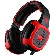 赛德斯  火舞梦魇狼 SA-906i 头戴式 7.1声道游戏耳机(黑红)