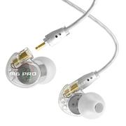 迷籁 M6PRO专业舞台监听耳机入耳式 可换线HiFi线控耳机  透明