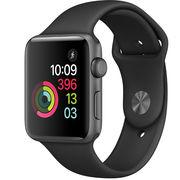 苹果 Watch Sport Series 2智能手表(42毫米深空灰色铝金属表壳搭配黑色运动型表带)