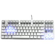 优派 KU520背光游戏机械键盘 87键8键发光 白银色 青轴