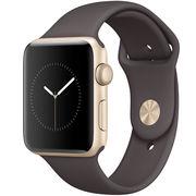 苹果 Watch Sport Series 2智能手表(42毫米金色铝金属表壳搭配可可色运动型表带)