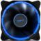 先马 光环 12CM蓝光 机箱风扇 (环形光圈/小3拼+大四拼接口/电竞氛围/低噪音/高效散热/阻燃)产品图片1