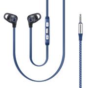 三星 IA510 编织防缠绕 安卓线控耳机 入耳式通用型运动耳机 蓝色