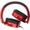 先锋 MJ101-R 便携折叠头戴式线控通话手机耳机 红产品图片3