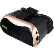 BIAZE 3D头盔VR眼镜 土豪金 头戴式 智能眼镜 虚拟现实游戏头盔 适用于苹果ios安卓手机