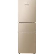 美菱 BCD-218WE3CX 218升 风冷无霜 电脑控温 节能静音 宽幅变温 时尚三门冰箱(金)