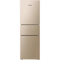 美菱 BCD-218WE3CX 218升 风冷无霜 电脑控温 节能静音 宽幅变温 时尚三门冰箱(金)产品图片主图