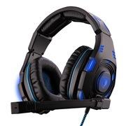 赛德斯  嗜血亡灵 SA-907 头戴式 7.1声道游戏耳机(黑蓝)