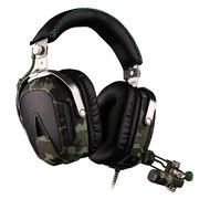 赛德斯  A90 飞行师 7.1声道带声卡 六色变光游戏耳机(军绿)