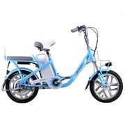 喜德盛 电动自行车48V锂电池电动车16寸一体轮电动自行车豹子5 蓝色 ( 韩国LG电池 )