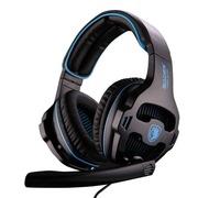 赛德斯  SA-810 头戴式 游戏玩家 定制耳机 (黑蓝)