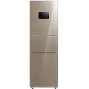 美的 BCD-230WTGZM(E) 230升 风冷无霜 WIFI智能 三门电冰箱 智慧彩屏 玻璃面板 宽幅变温(精致金)