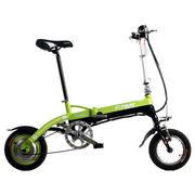 永久 电动自行车 36V 锂电池 12吋 迷你电动车 折叠锂电动车 超轻mini 黑绿色 12吋