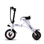 法克斯 MiniFox 迷你折叠电动车便携时尚助力成人小电动自行车都市电动 白色青春版30公里