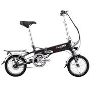 喜德盛 电动自行车 折叠电动车 36V锂电池 14寸超轻迷你代驾车 先行者3 电动车 黑色
