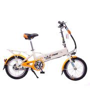 永久 折叠电动车 mini电动车 锂电电动自行车 16寸36V隐藏可锁锂电池 亮橙