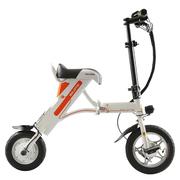 索罗门 K1 成人两轮代驾便携折叠电动自行车/密码解锁/手机充电/标准版/白色(厂家配送)