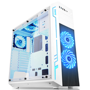 先马 方舟 白色 中塔机箱 (支持ATX主板/电竞ATX-III结构/配5把RGB风扇/七彩灯光/U3/调速器/读卡器)