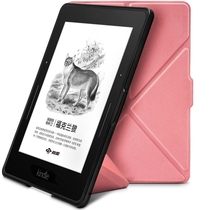 柏图 适配Kindle 1499版保护套/壳 Kindle Voyage 航行专用休眠皮套 折叠支架系列 樱花粉产品图片主图