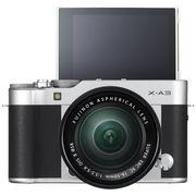 富士 X-A3 XC16-50mm 银黑色 微单电套机 2420万像素 3.0英寸180度多点触摸屏 WIFI遥控 USB充电