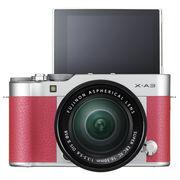 富士 X-A3 XC16-50mm 玫红色 微单电套机 2420万像素 3.0英寸180度多点触摸屏 WIFI遥控 USB充电