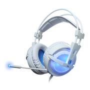 赛德斯  A6 电脑游戏耳机 头戴式7.1声道usb耳麦 (白蓝)