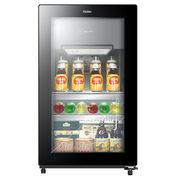 海尔 DS090D 90升 家用可制冰冰吧 茶叶柜 展示柜 饮料柜 雪茄柜(黑色)