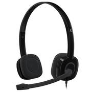 罗技 H151 立体声耳机麦克风 黑色