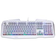 富勒  SG600C 静电容 阳极氧化铝合金面板 有线游戏键盘 银色