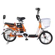 台铃 2016新款小清铃二代16寸电动自行车 48V锂电电动车成人助力车 自带USB手机充电 阳光橙