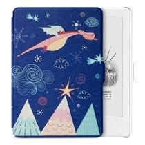 柏图 适配Kindle 558版保护套/壳 彩绘系列 全新Kindle电子书休眠皮套 白色-萌逗飞龙产品图片主图