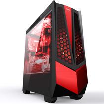 冠捷 AGV01/D 黑色中塔式机箱(原生USB3.0/支持ATX主板/支持分体式水冷/全侧透/背走线/支持长显卡)产品图片主图