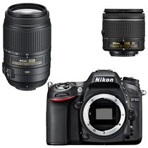 尼康 D7100 单反双镜头套机(AF-P 18-55mm f3.5-5.6G VR 防抖 + 55-300mm f4.5-5.6G)产品图片主图