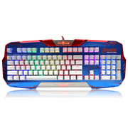 宜博 K729 RGB机械键盘 美国队长版 青轴