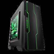 大水牛 潘多拉 黑色 MINI机箱(支持ATX主板/支持双水冷排/七彩呼吸灯/多硬盘支持/U3)
