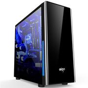 爱国者 武极Ⅱ黑色 分体式机箱(支持ATX主板/标配3把蓝色风扇/大侧透/USB3.0/HD音频)