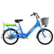 喜德盛 传说9号  电动车48V/9AH锂电自行车铝合金20/24寸电动自行车 浅蓝色 24寸