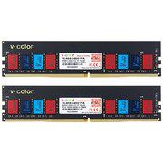 全何  DDR4 2400 16GB(8GBx2)  台式机內存彩条