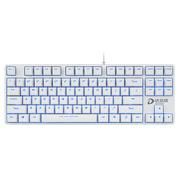 达尔优 DK100背光版 电竞游戏机械键盘 白色黑轴