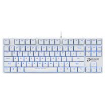 达尔优 DK100背光版 电竞游戏机械键盘 白色黑轴产品图片主图